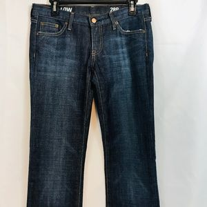 J.Crew Womens Blue Jeans 28R Straight Low Rise